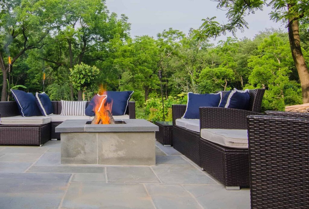 outdoor furniture surrounding fire pit