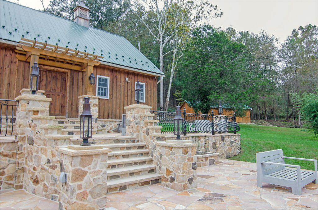 custom patio stonework