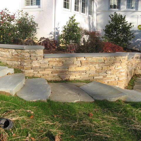 Flat Stacking retaining wall
